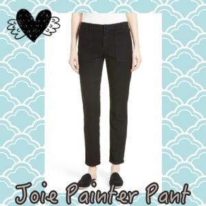 Joie Black Painter Cotton & Linen Pants NEW